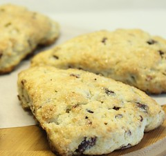 Valentine's Day Breakfast ~ Cranberry-Pecan Cream Scones