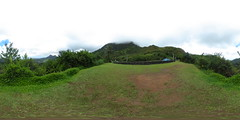From the overlook on the Pali Highway above Kailua, O'ahu - a 360 degree Equirectangular VR