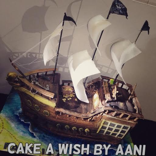 Pirates' Ship Cake by Aani de Antosa