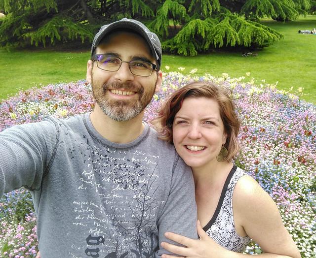selfie @ Greenwich Flower Garden