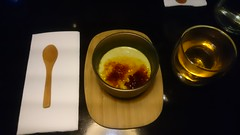 Matcha creme brulee with hot grean tea AUD10 - Men…