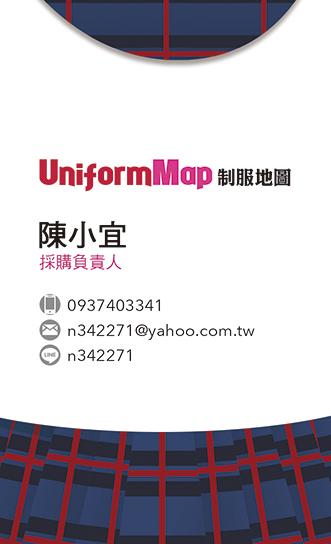 制服地圖名片 宜寧中學