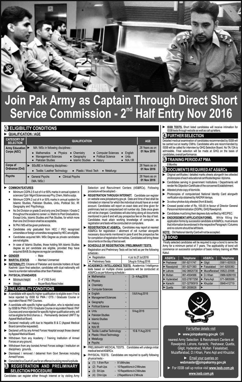 Join Pakistan Army Through Short Service Commission