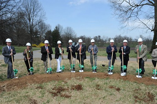 Groundbreaking ceremony for the new facility. Photos courtesy of Christian Care Communities.  Used with permission.