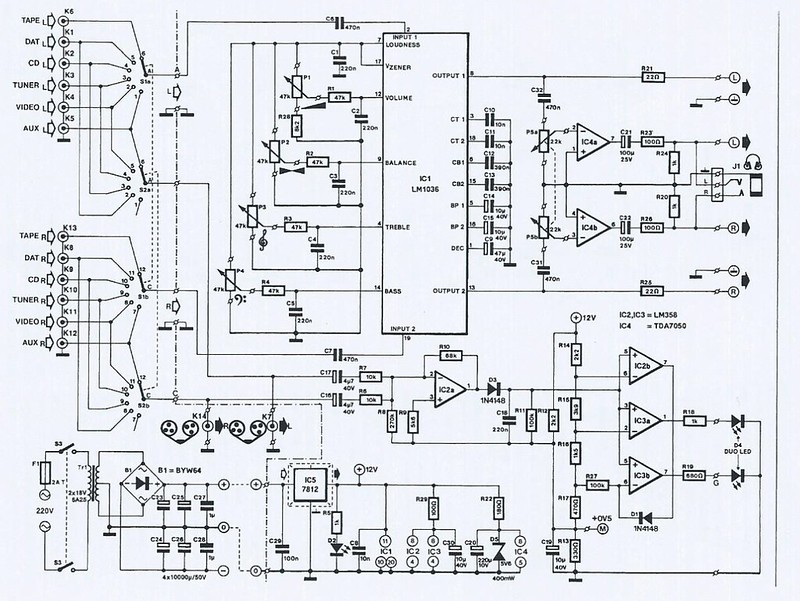 preamp with lm1036n and tda7050 diyaudioclick the image to open in full size