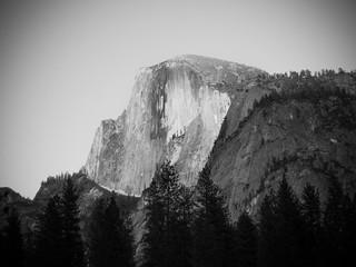 Half Dome as seen from Curry Village