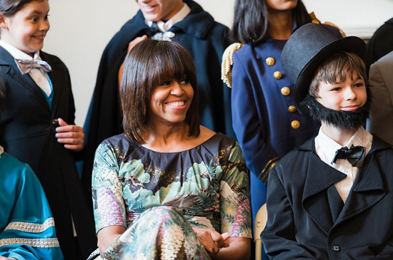 First Lady Michelle Obama visits Decatur House