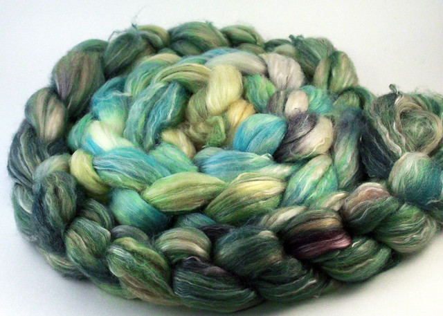 ForestMoss 50/30/20 Wool Silk Seacell