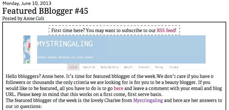 featured bblogger
