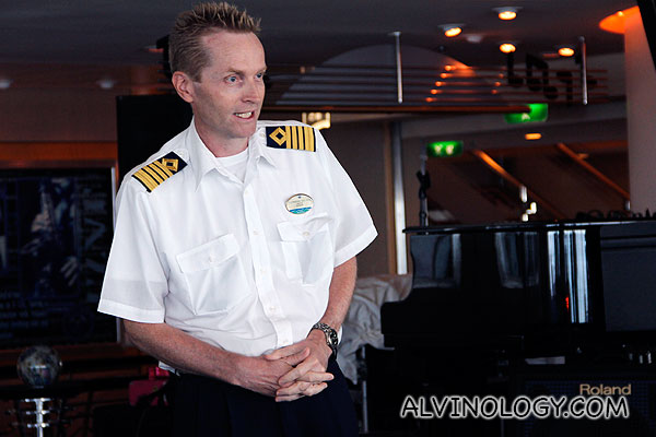 The Captain of Mariner of the Seas