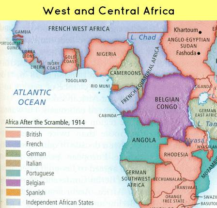 world history for upsc scramble for africa s colonization map west africa