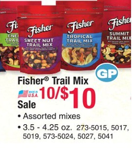 Fisher Snack Nut Item Coupon