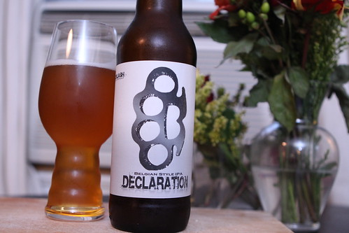Backlash Brewing Company Declaration Belgian Style IPA
