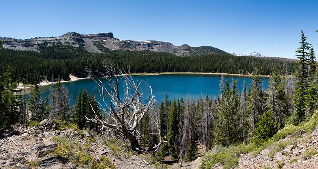 Three Creeks Lake from the Tam McArthur Rim trail