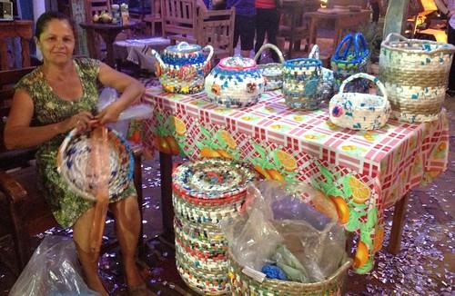 Artesanado no Mercado Mundo Mix durante o Festival de Inverno