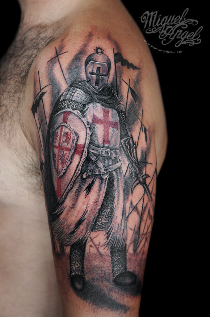 fluidr knight templar tattoo by miguel angel tattoo. Black Bedroom Furniture Sets. Home Design Ideas