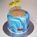 kissing fish anniversary cake