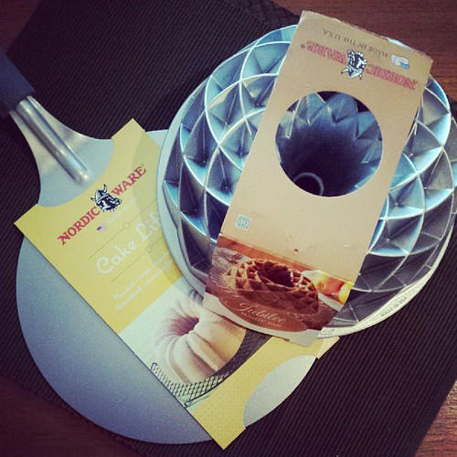 Bought new #bundt & giant cake lifter. Um, you ready for another round of I Like Big Bundts?!