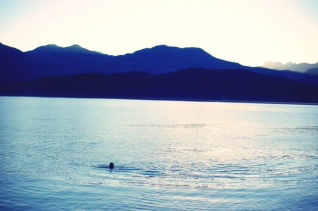 evening swim.