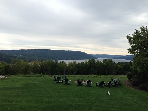 Canandaigua Lake from Bristol Harbor resort. by Michael Tinkler