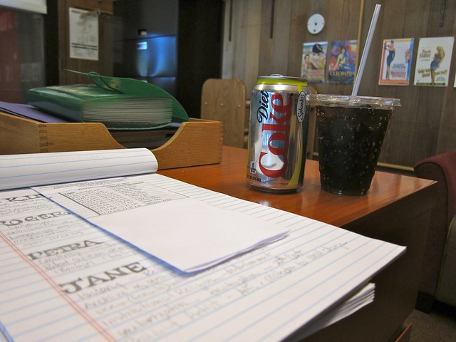 afternoon coke and meeting notes