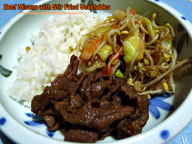 In the Kitchen: Beef Misono with Stir Fried Vegetables