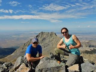 Doug and Clare on Blanca Peak (14,345 ft)