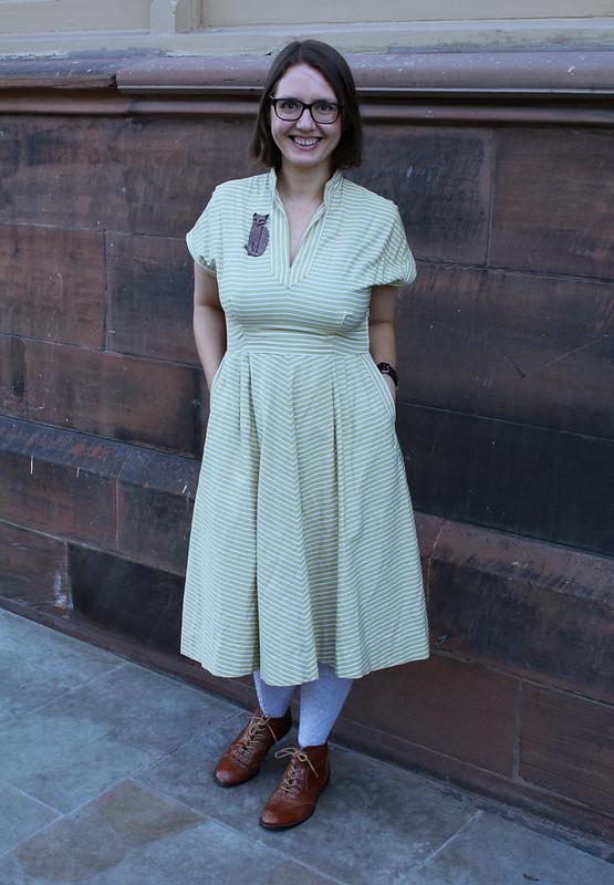 vintage fifties stripy dress