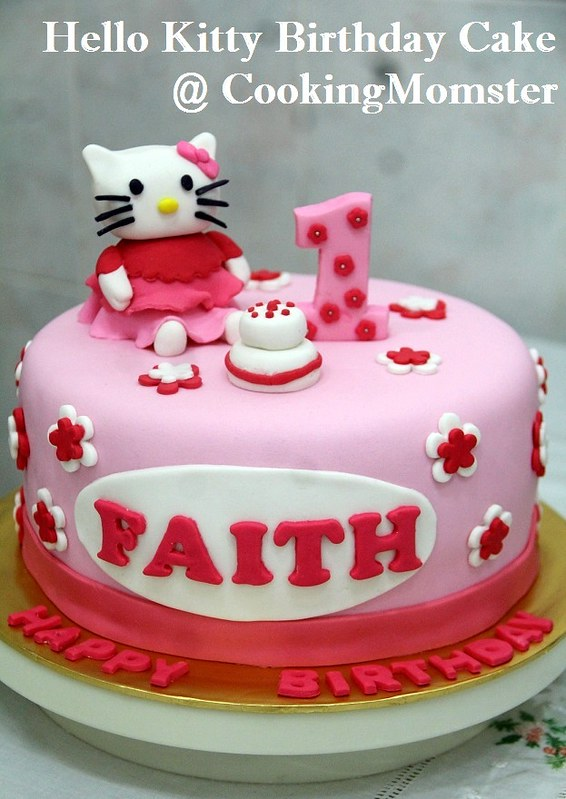 Hello Kitty Birthday Cake a