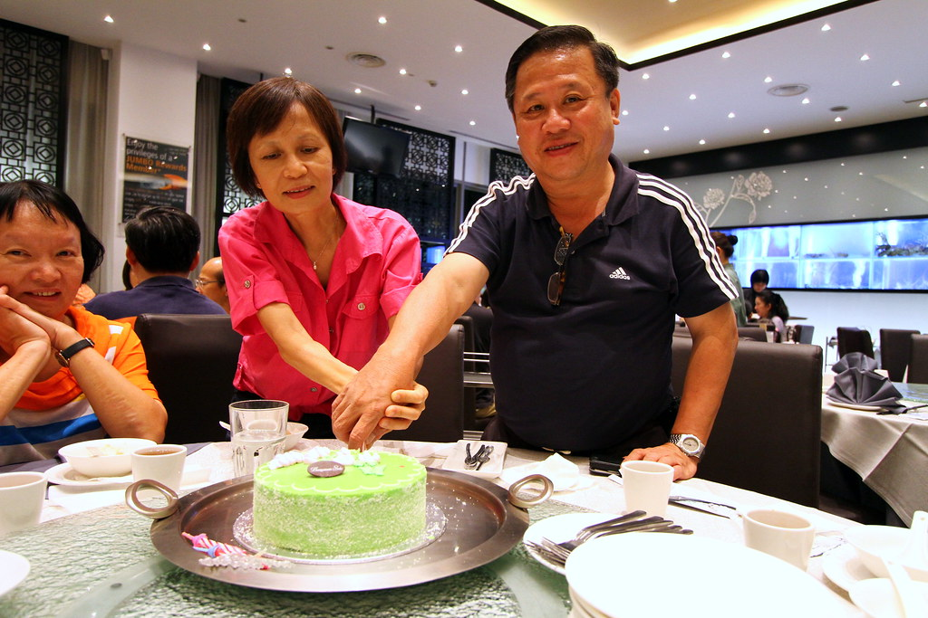 Maureen's parent celebrating @ Chui Huay Lim Teochew Cuisine