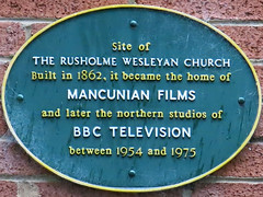 Photo of Rusholme Wesleyan Church green plaque