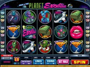 Sneak A Peek Planet Exotica Slot Machine