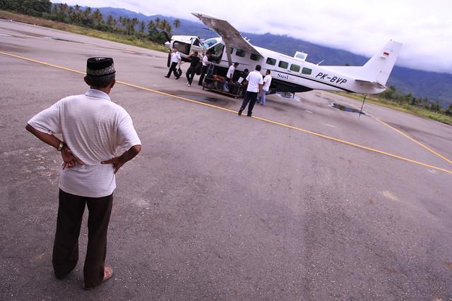 Propeller plane, Kutacane Airport, Sumatra