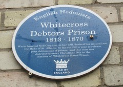 Photo of Debtors Prison, Whitecross blue plaque
