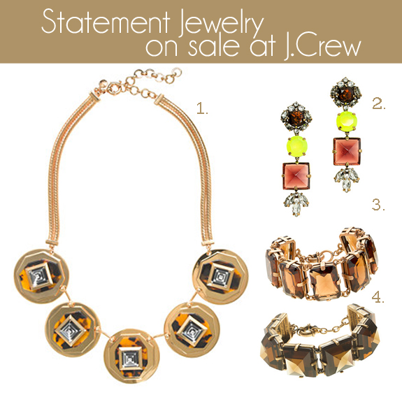 statement jewelry on sale at j crew economy of style