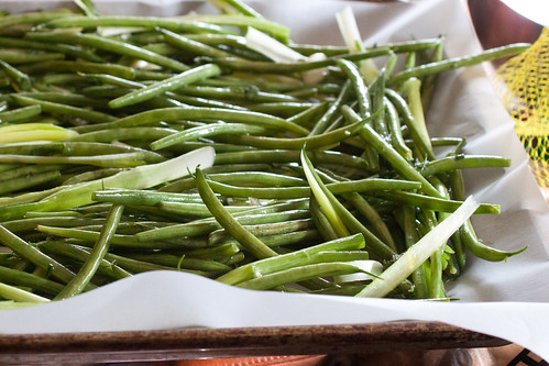 Roasted Green Beans with Herbs and Scallions •The Domestic Front