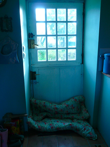 Eiderdown at back door