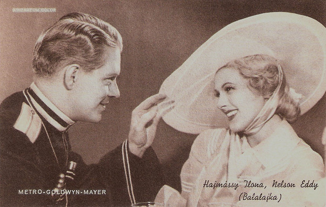Ilona Massey and Nelson Eddy in Balalaika
