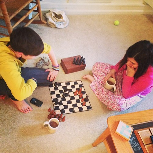 Early morning chess #thanksgiving