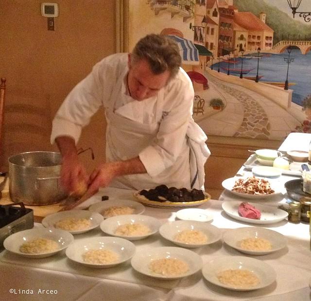 Arceo - Nunzio preps truffle dinner Nunzio's Collingswood