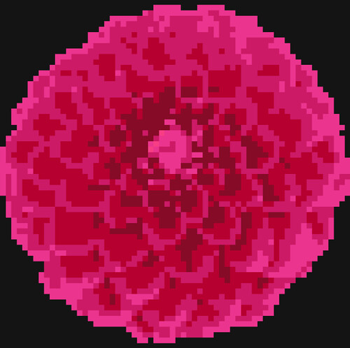 Pink Dahlia pattern image only
