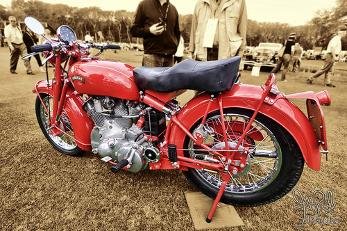 1950 Vincent Red Touring Rapide at Amelia Island 2012