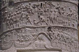 Trajan's Column:  detail of frieze reliefs