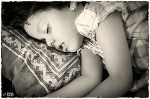 sleeping bw kid cousin