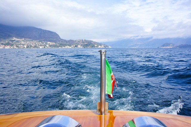 Boat on Lake Como