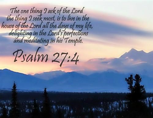 Psalm 27:4 nlt