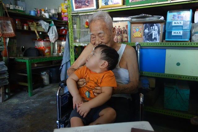 Jerome with his great grandpa