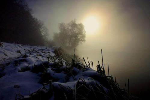 morning winter mist fog sunrise canon landscape drohiczyn cesarz marcelxyz
