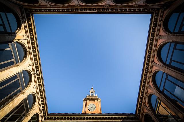 Archiginnasio de Bolonia. Italia.