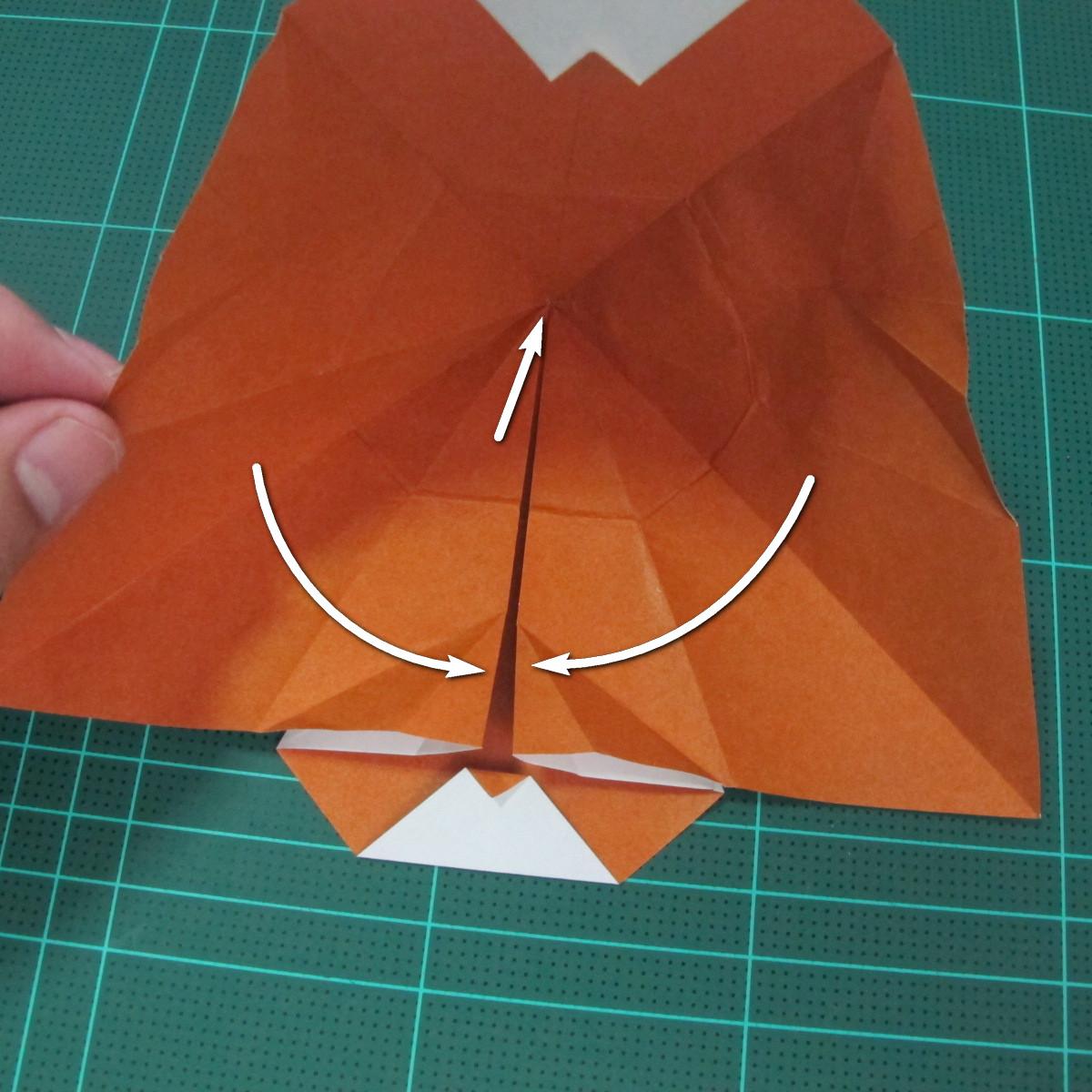 การพับกระดาษเป็นที่คั่นหนังสือหมีแว่น (Spectacled Bear Origami)  โดย Diego Quevedo 018